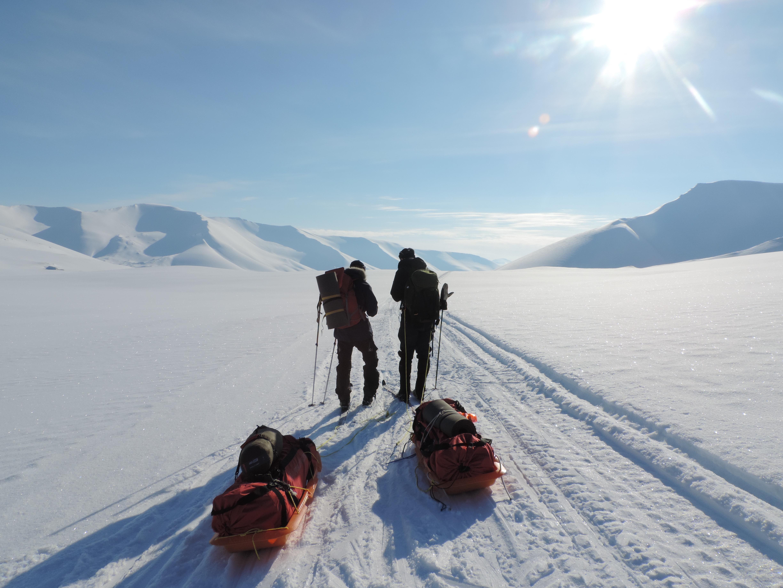 Friluftsliv Nordkalotten på Svalbard