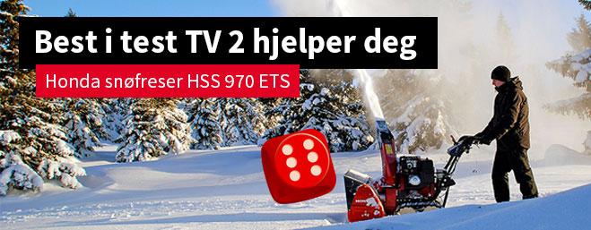 Honda snøfresere, best i test hos Tv2 hjelper deg